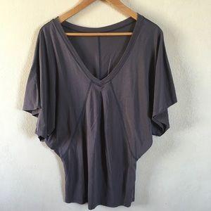 Lululemon women's workout shirt dolman sleeve gray